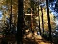 20.10.2012r. kamień i krzyż przy kapliczce w lesie 3