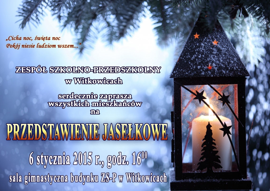 Zaproszenie Na Jasełka Witkowice